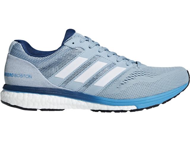 adidas Adizero Boston 7 Kengät Miehet, ash grey/ftwr white/shock cyan